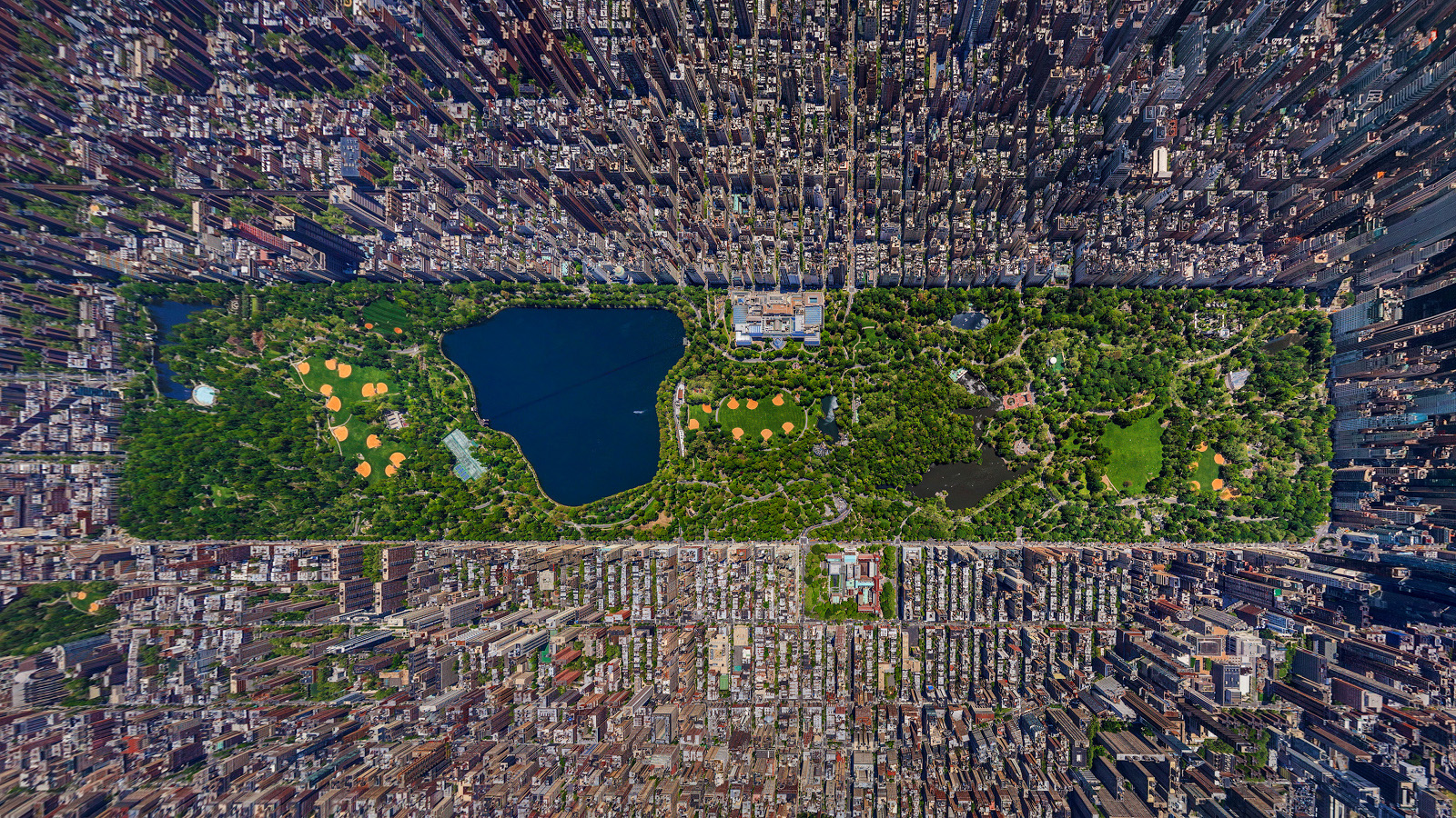 Central park, new york city opened in 1857, central park spans 315 hectares of city-owned land